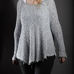 Free People Boho Sweater with Lace Back